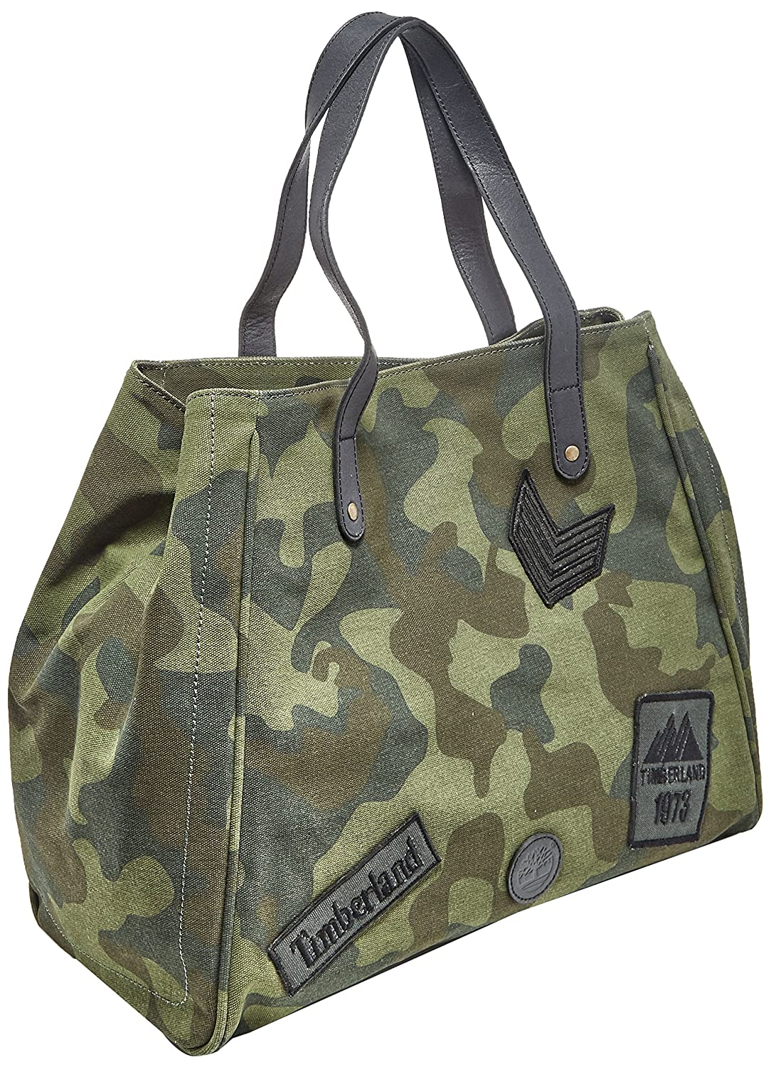 Large Shopping Bag, Unisex Adults Top-Handle Green (Green Camo), 20x33x40 cm (W x H L) Timberland