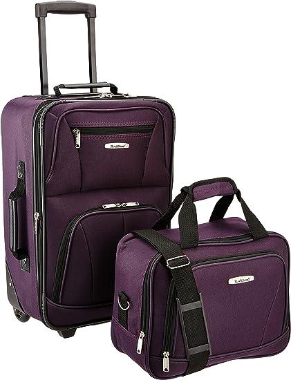 Luxury Fashion Softside Upright Luggage Set, 2-Piece
