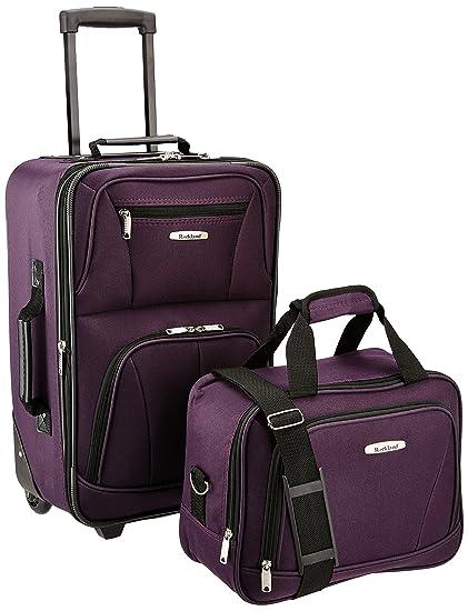 Amazon.com: Rockland, juego de equipaje de dos piezas ...