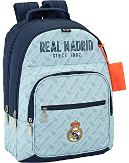 Safta Mochila Real Madrid Corporativa Oficial Mochila Escolar, 320x160x420mm