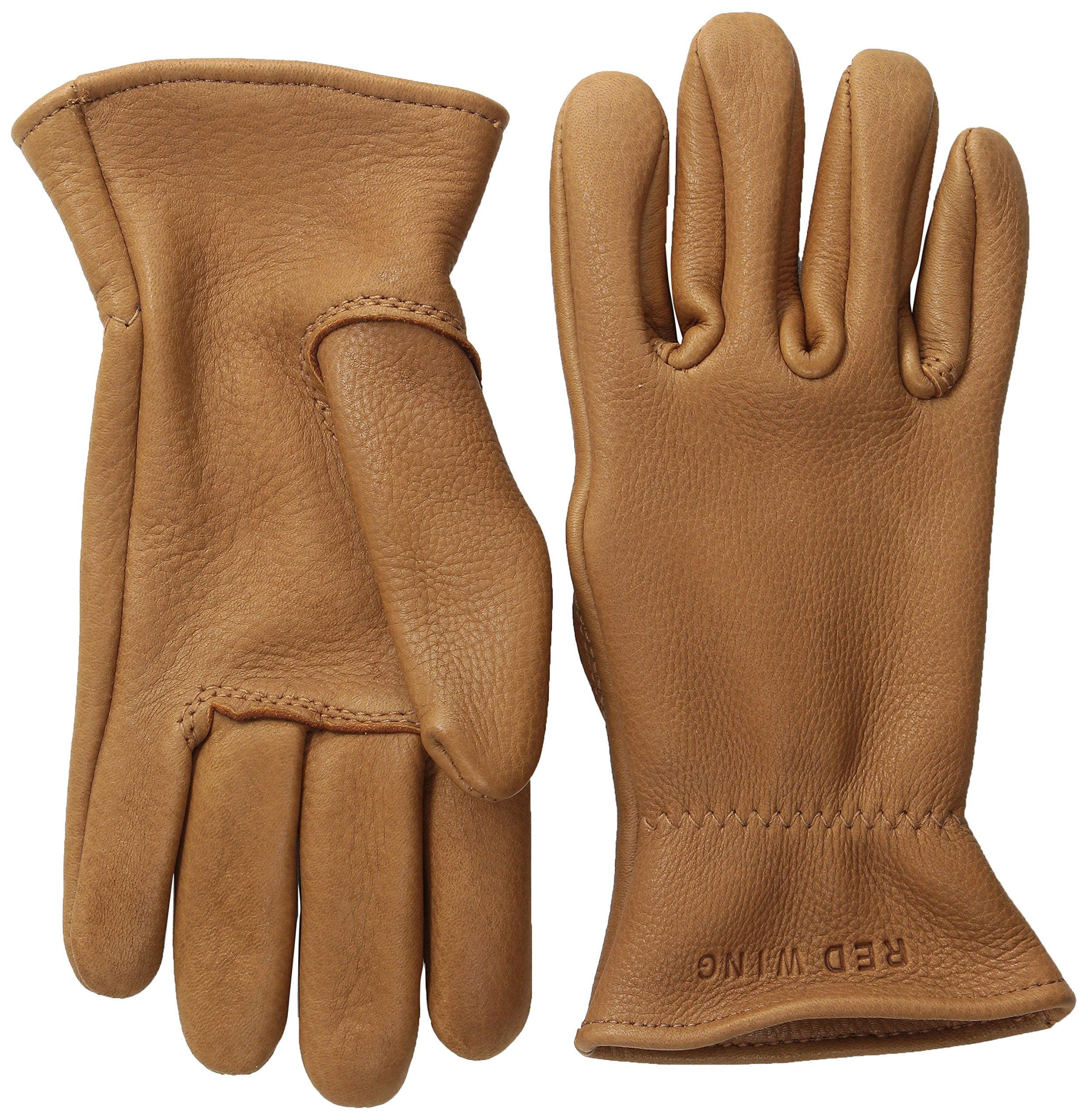 Red Wing Heritage lined Leather Gloves, Nutmeg Buckskin,