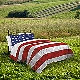 Amazon Com I Love America Blue American Flag Bedding