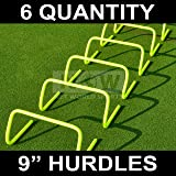 "9"" SPEED HURDLES - New & Improved Design for Agility Training [Set of 6] [Net World Sports]"