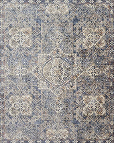 Loloi Porcia Collection Area Rug, 3 7 x 5 2 , Blue