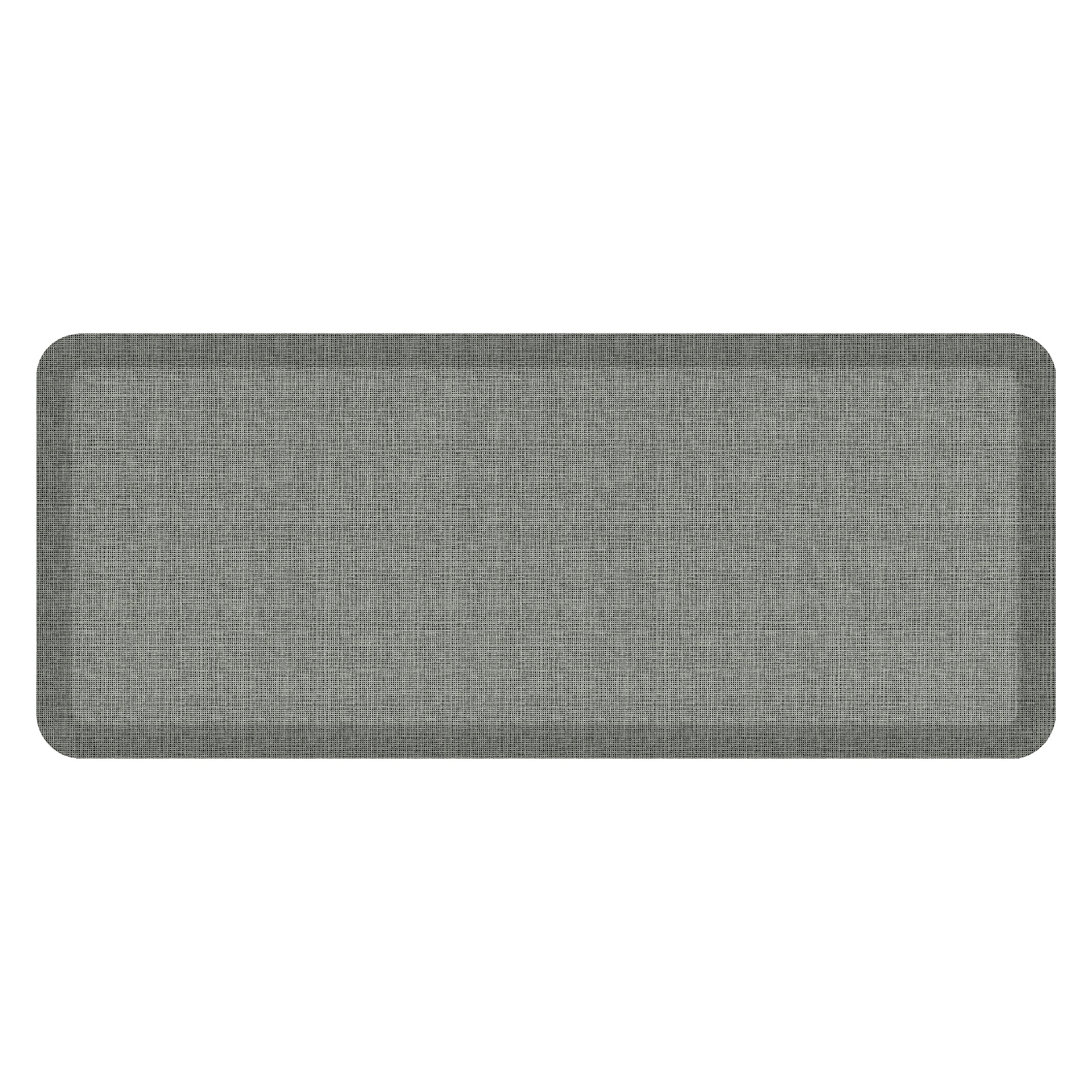 """NewLife by GelPro Anti-Fatigue Designer Comfort Kitchen Floor Mat, 20x48'', Tweed Grey Goose Stain Resistant Surface with 3/4"""" Thick Ergo-foam Core for Health and Wellness"""