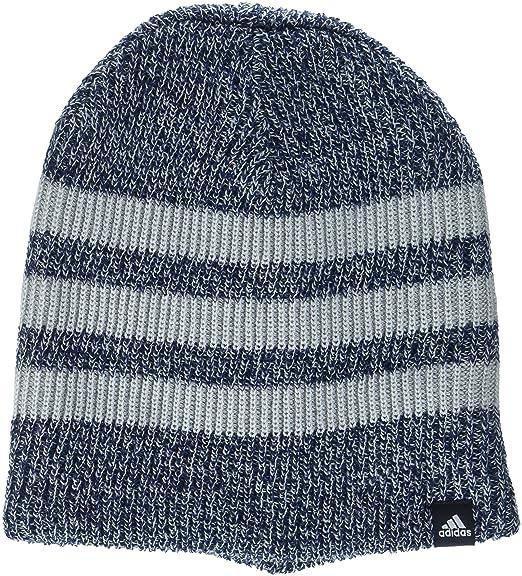 4a6e278a483 adidas Men Beanie Daily 3-Stirpes Hat Logo Headwear Running Training (OSFM)