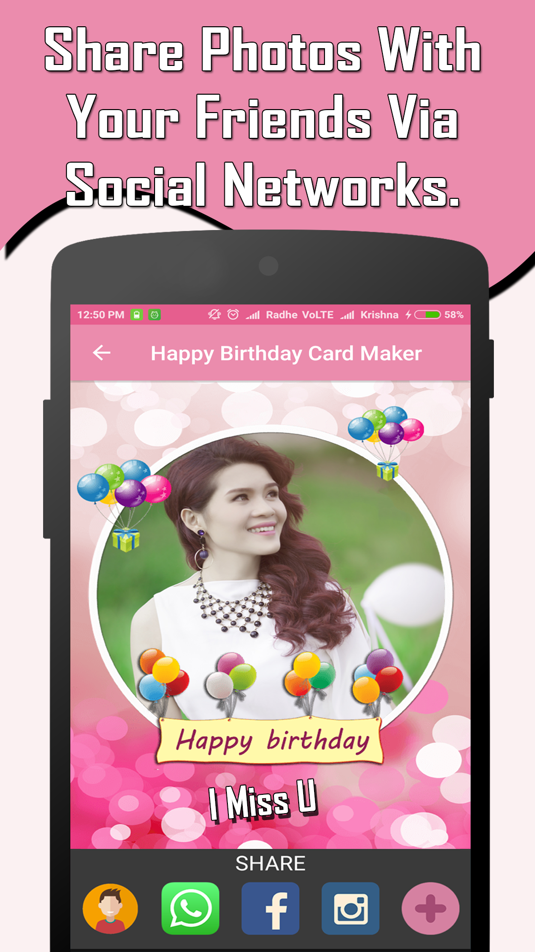 Amazon Com Happy Birthday Card Maker With Photo Appstore For Android