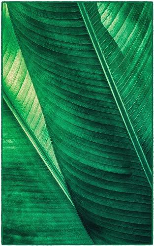 Brumlow Mills Leaf It To Me Green Area Rug, 5 x 8