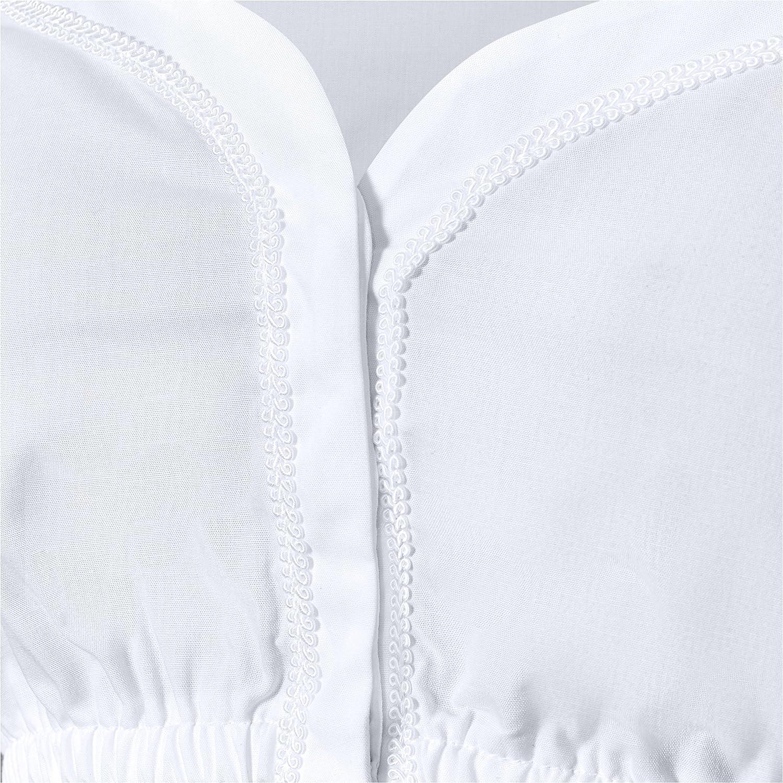 Modell Beata Dirndlbluse Kurze /Ärmel aus hochwertigen Materialien Dirndlbluse Herzausschnitt Almbock Dirndlbluse Damen wei/ß