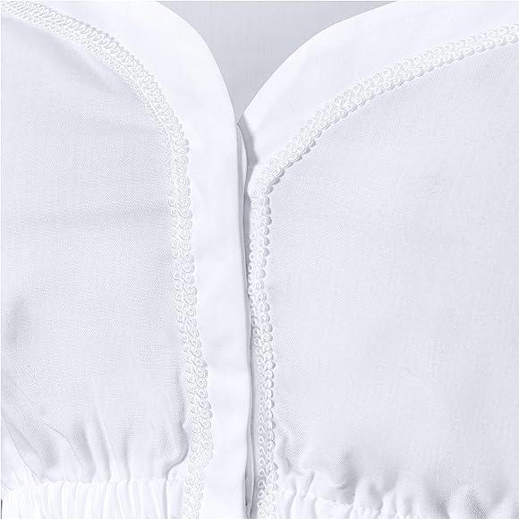 Dirndlbluse Herzausschnitt Modell Beata Dirndlbluse Kurze /Ärmel aus hochwertigen Materialien Almbock Dirndlbluse Damen wei/ß
