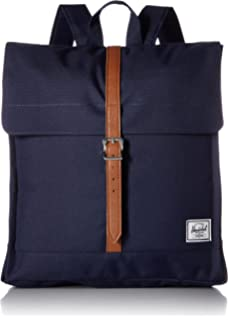 66ef3cb841 Herschel City Mid-Volume Backpack Peacoat Tan Synthetic Leather One Size