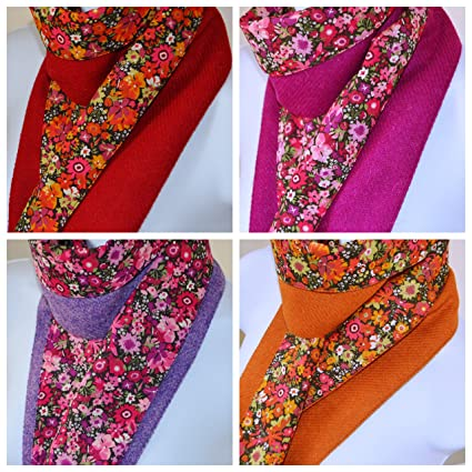 HARRIS TWEED   LIBERTY LONDON 100% pure wool Luxury Scarf 138cm by 15cm  (Lilac)  Amazon.co.uk  Kitchen   Home 3a6121d846d