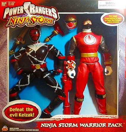 Amazon.com: Power Ranger Ninja Storm Warrior Pack Red Ranger ...