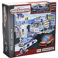 Majorette - 212050001 - Creatix Sos Flashers Station - Circuit Voiture Miniature - +1 Véhicule Police