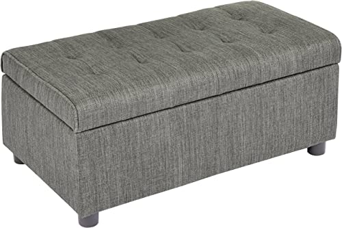 First Hill Arlos Rectangular Fabric Storage Ottoman