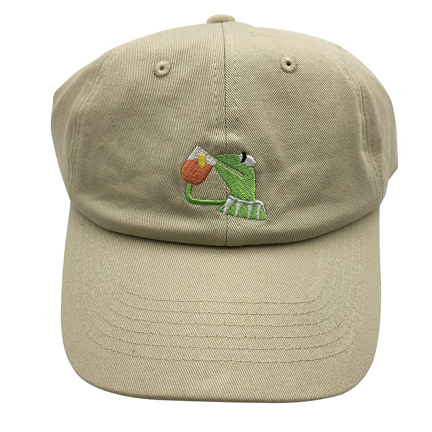 2e8178f95f7 Kermit The Frog Dad Hat Baseball Cap Sipping Sips Drinking Tea Champion  Adjustable Beige  Amazon.ca  Jewelry