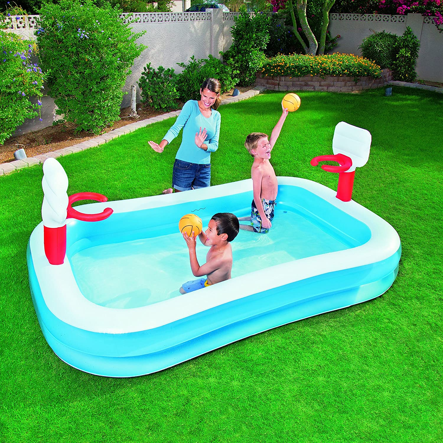 Piscina hinchable en aleman for Amazon tumbonas piscina