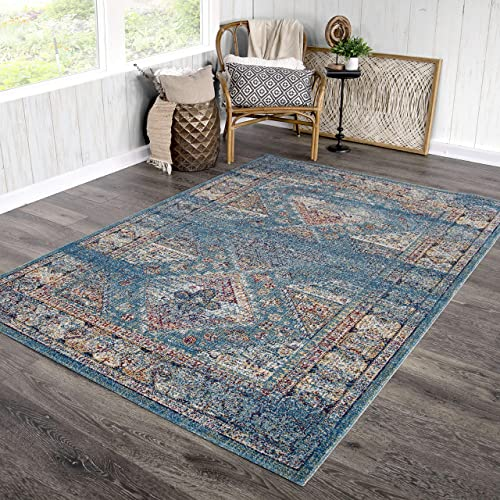 Orian Rugs Bali Indoor Outdoor Diamonds Direct Area Rug, 7 10 x 10 10 , Turquoise