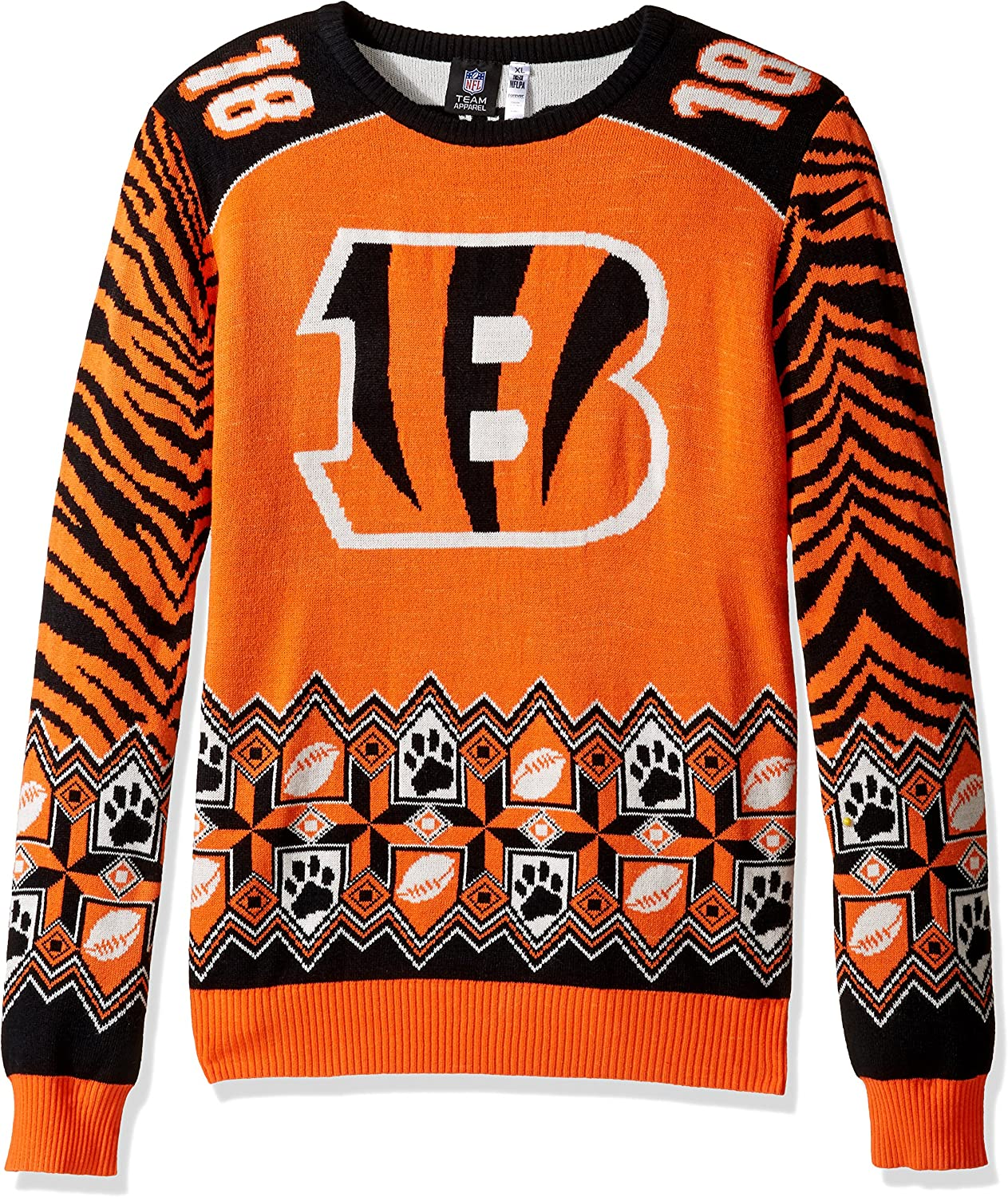 FOCO NFL Player Name and Number Ugly Sweater