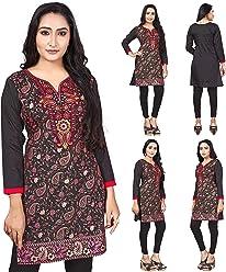 Women Fashion Casual Indian Short Kurti Tunic Kurta Top Shirt Dress ECCO07