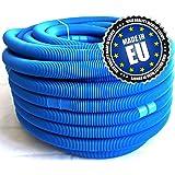 Tuyau Pour Piscine, Bleu, Ø 32 mm, Divisible tous les 110 cm, Longueur 50 m