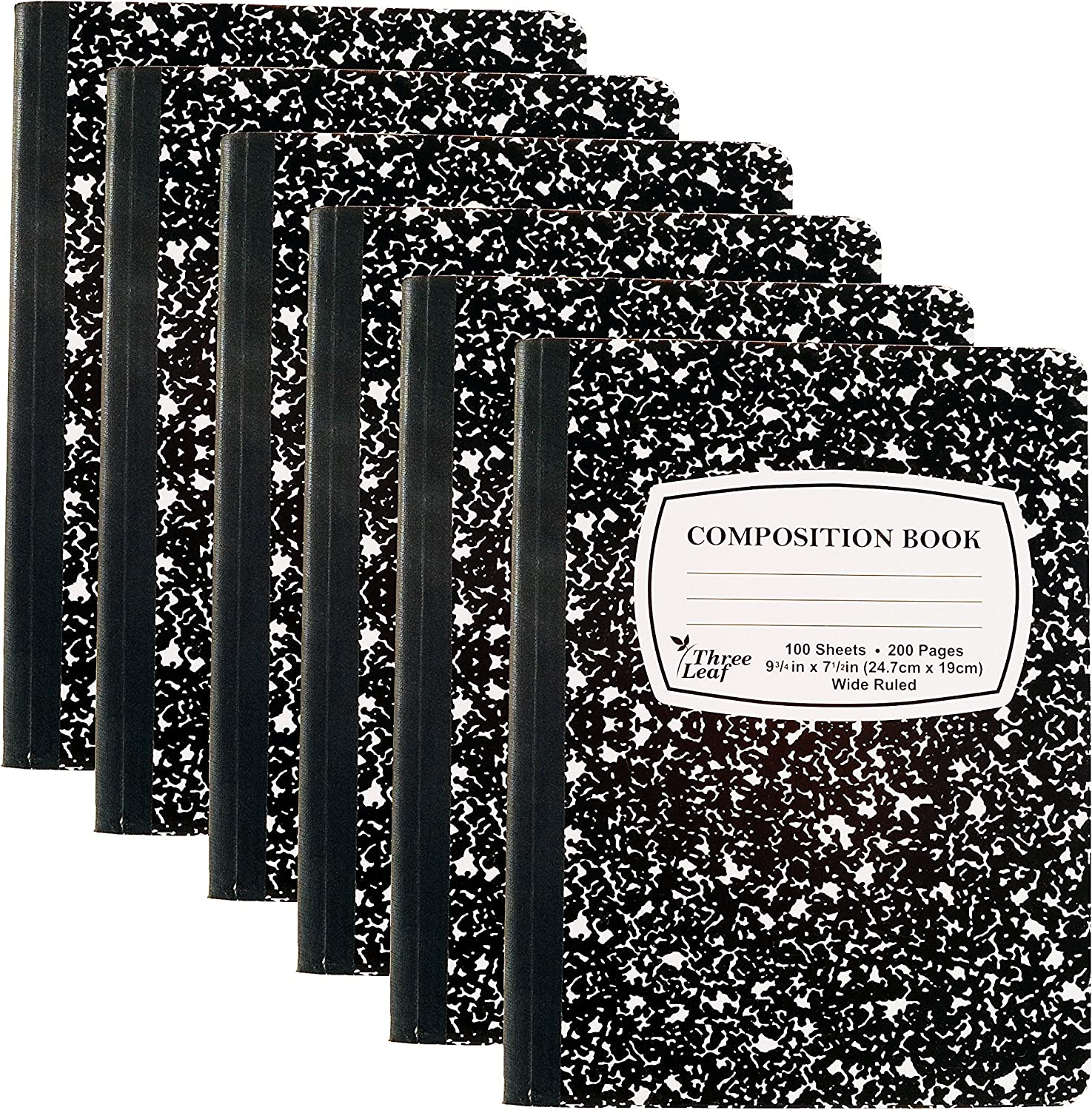 Pack of 6 - Composition Notebooks, 9-3/4