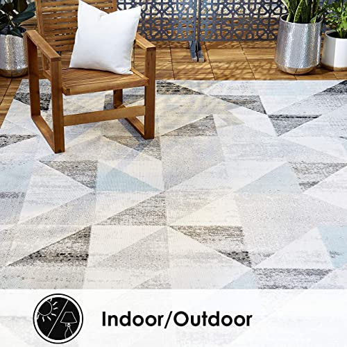 Home Dynamix Nicole Miller Patio Sofia Holly Indoor Outdoor Area Rug 7 9 x10 2