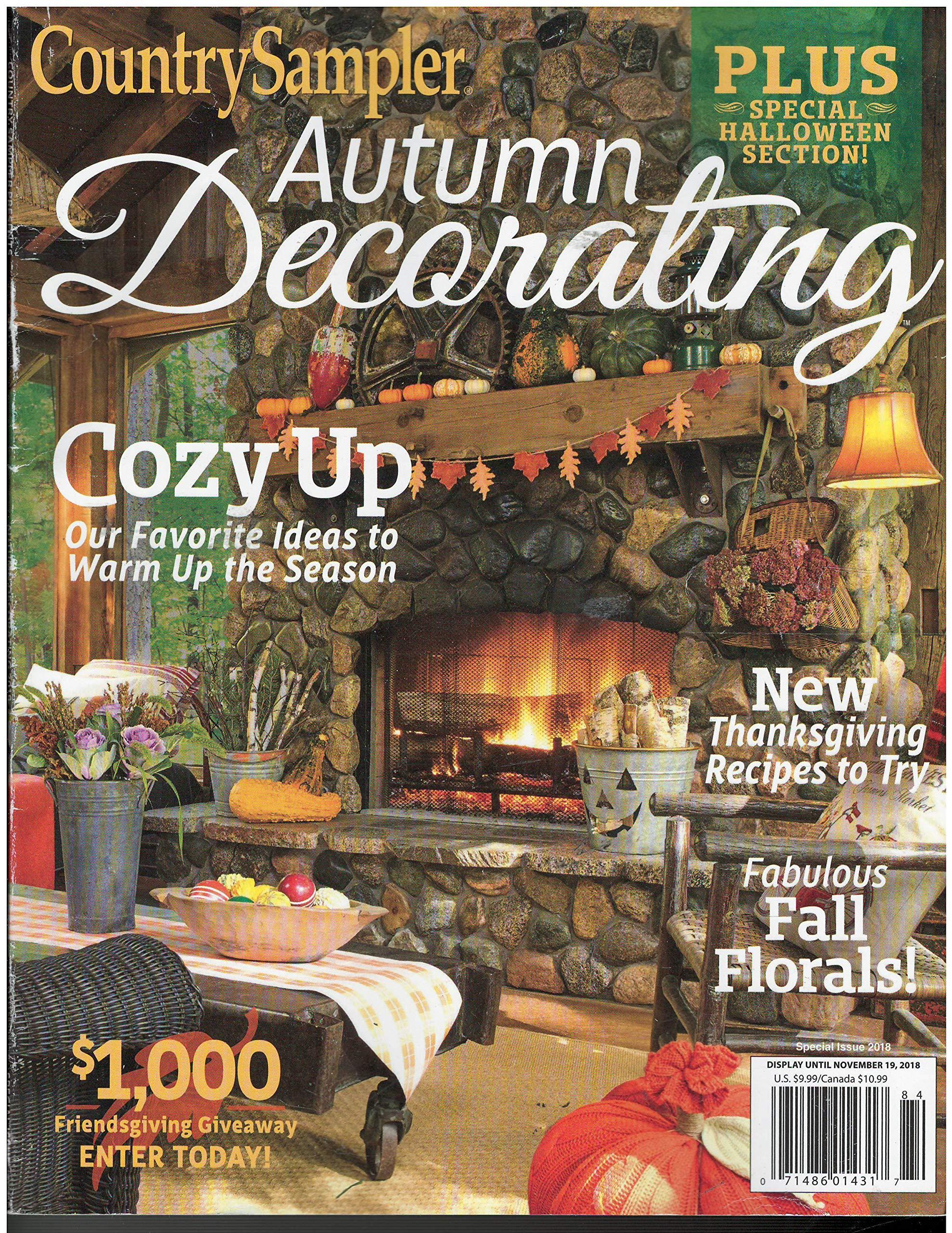 Country Sampler Autumn Decorating Magazine 2018: Amazon.com ...
