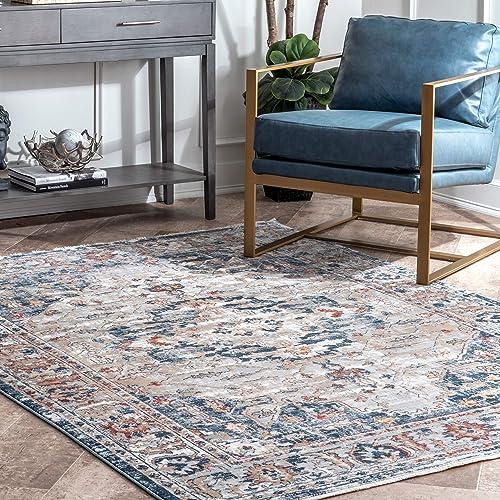 Cheap nuLOOM Kara Vintage Area Rug mid century modern rug for sale