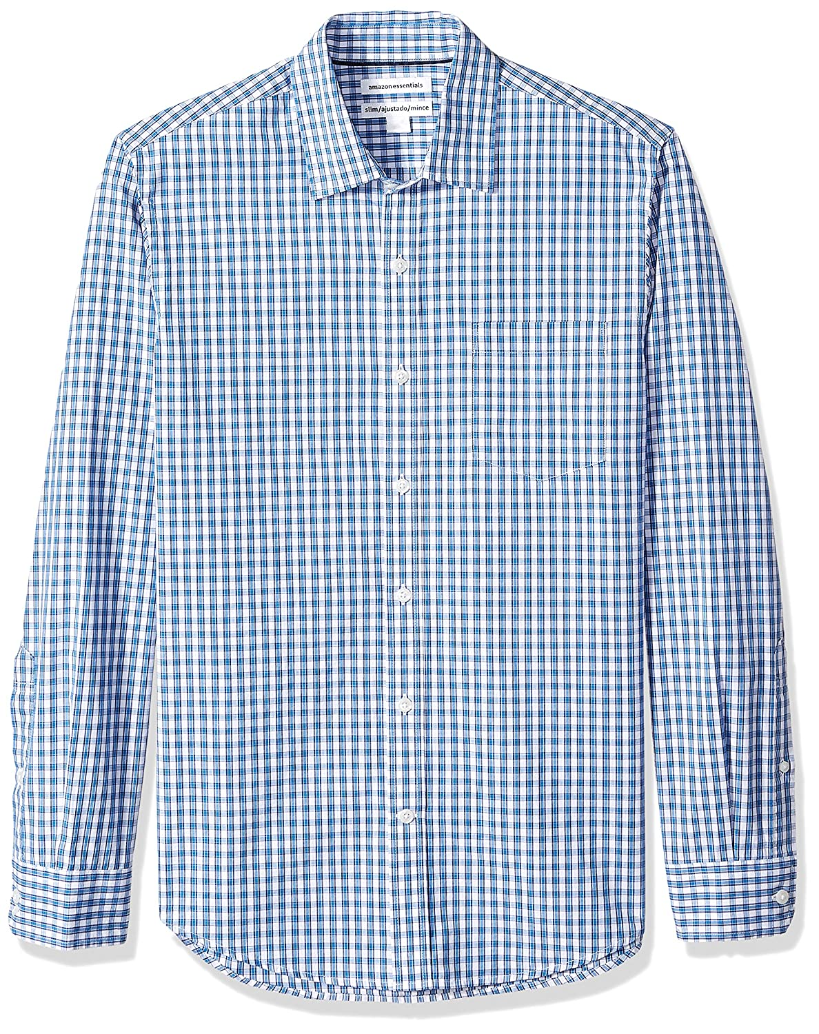 Amazon Essentials Mens Standard Slim-fit Long-Sleeve Check Shirt MAE30015SP18
