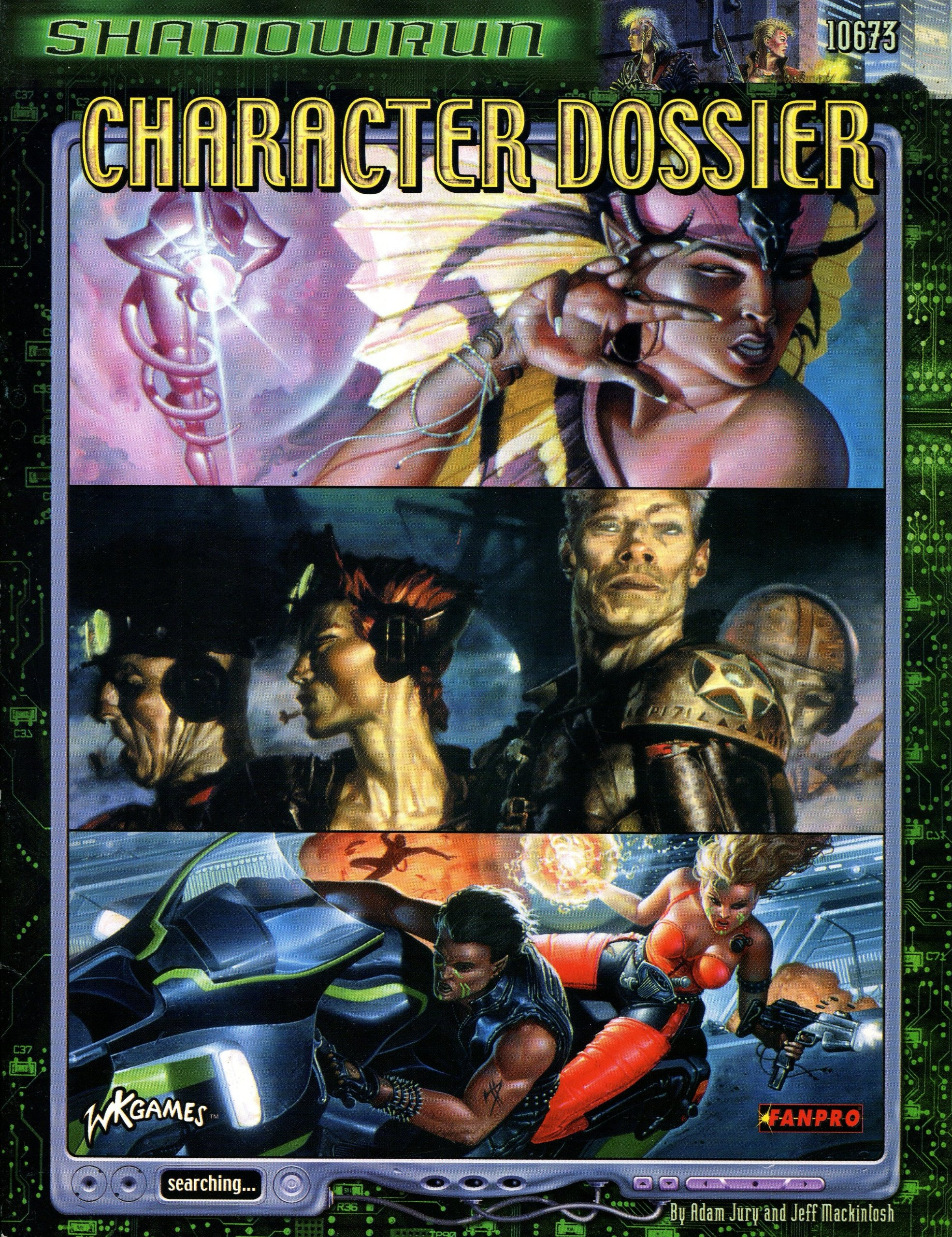 Character Dossier for Shadowrun 3rd Edition RPG!