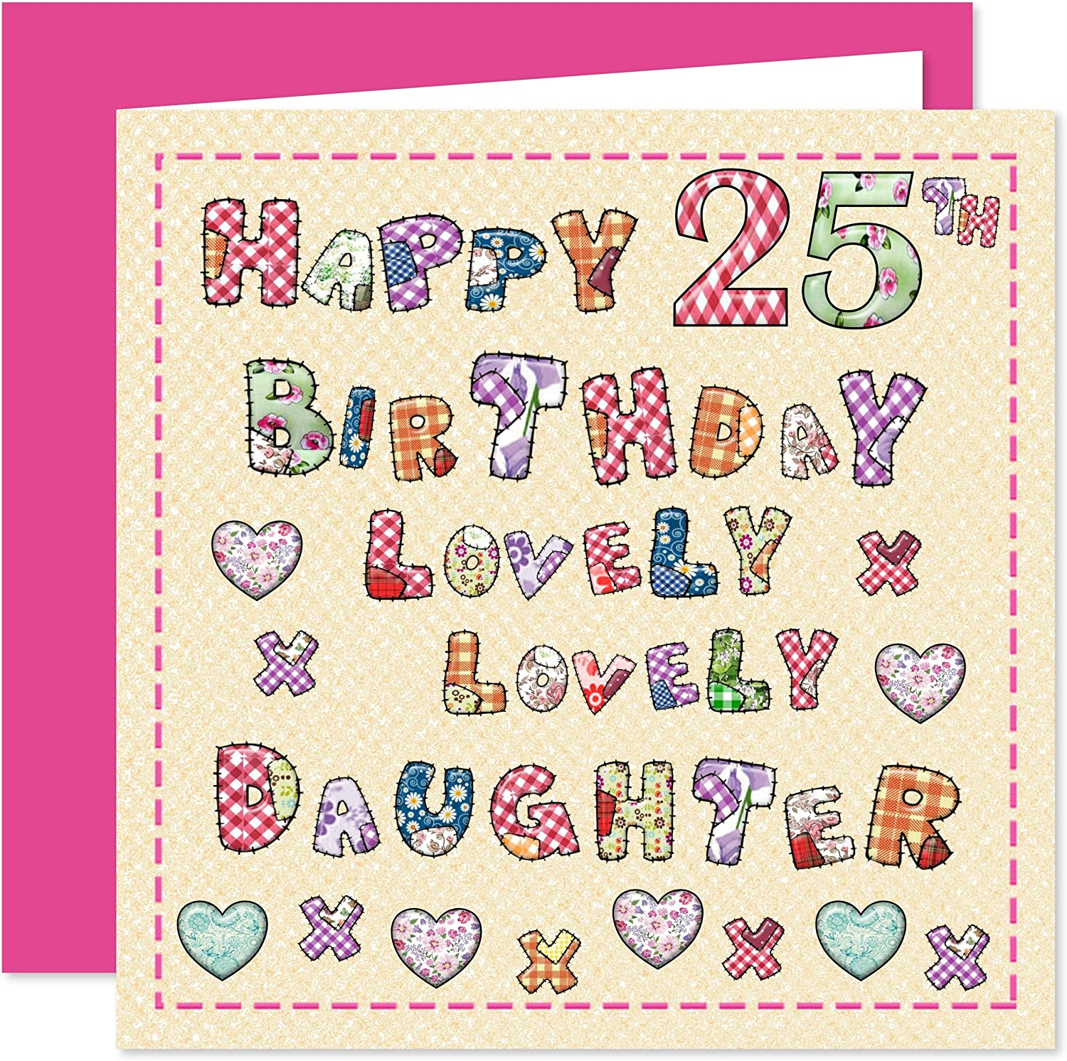 Daughter 4th Happy Birthday Card - Lovely Lovely Daughter - 4 Today