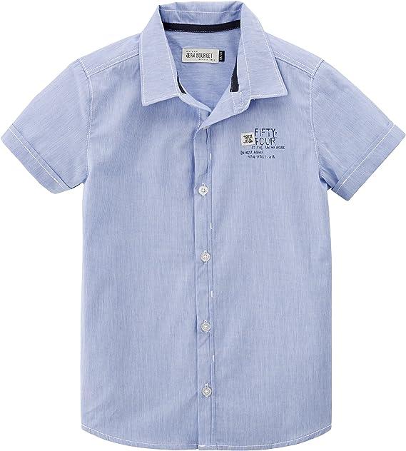 Jean Bourget - Camisa para niño, Talla 8 años (8 años), Color Azul: Amazon.es: Ropa y accesorios