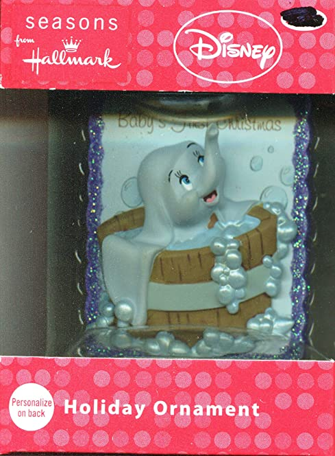 Hallmark Disney Babys First Christmas Dumbo bath Christmas