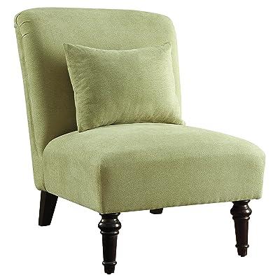 Fabulous Green Armless Accent Chair Amazon Com Cortesi Home Savion Dailytribune Chair Design For Home Dailytribuneorg