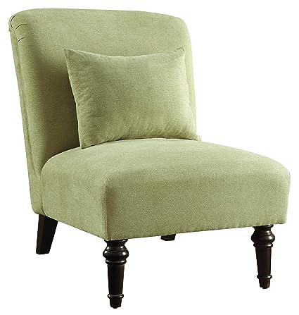 Amazing Amazon Com Coaster 902020 Armless Accent Chair Green Machost Co Dining Chair Design Ideas Machostcouk