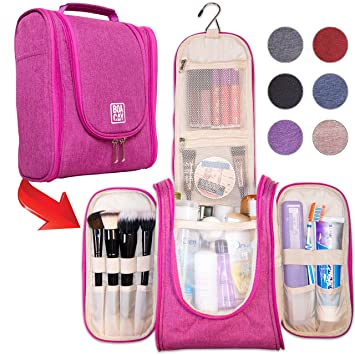 Amazon.com   Premium Hanging Travel Toiletry Bag for Women and Men ... 8c44a27a50d20