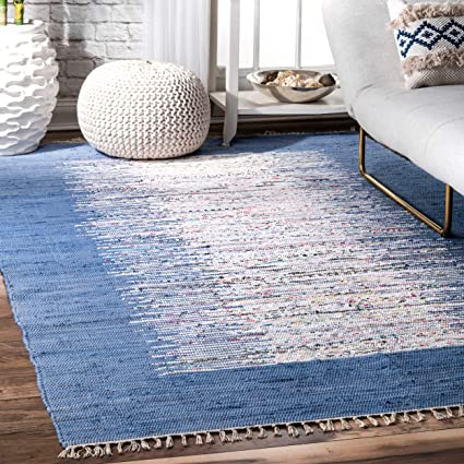 a36f32bb66 Amazon.com: nuLOOM Madison Collection Contemporary Hand Made Area Rug,  8-Feet by 10-Feet, Denim: Kitchen & Dining