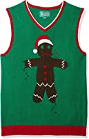 Ugly Christmas Sweater Men's Gingerbread Man Vest