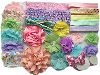 Spring Pastels Baby Headband in Pink and Aqua Lavender