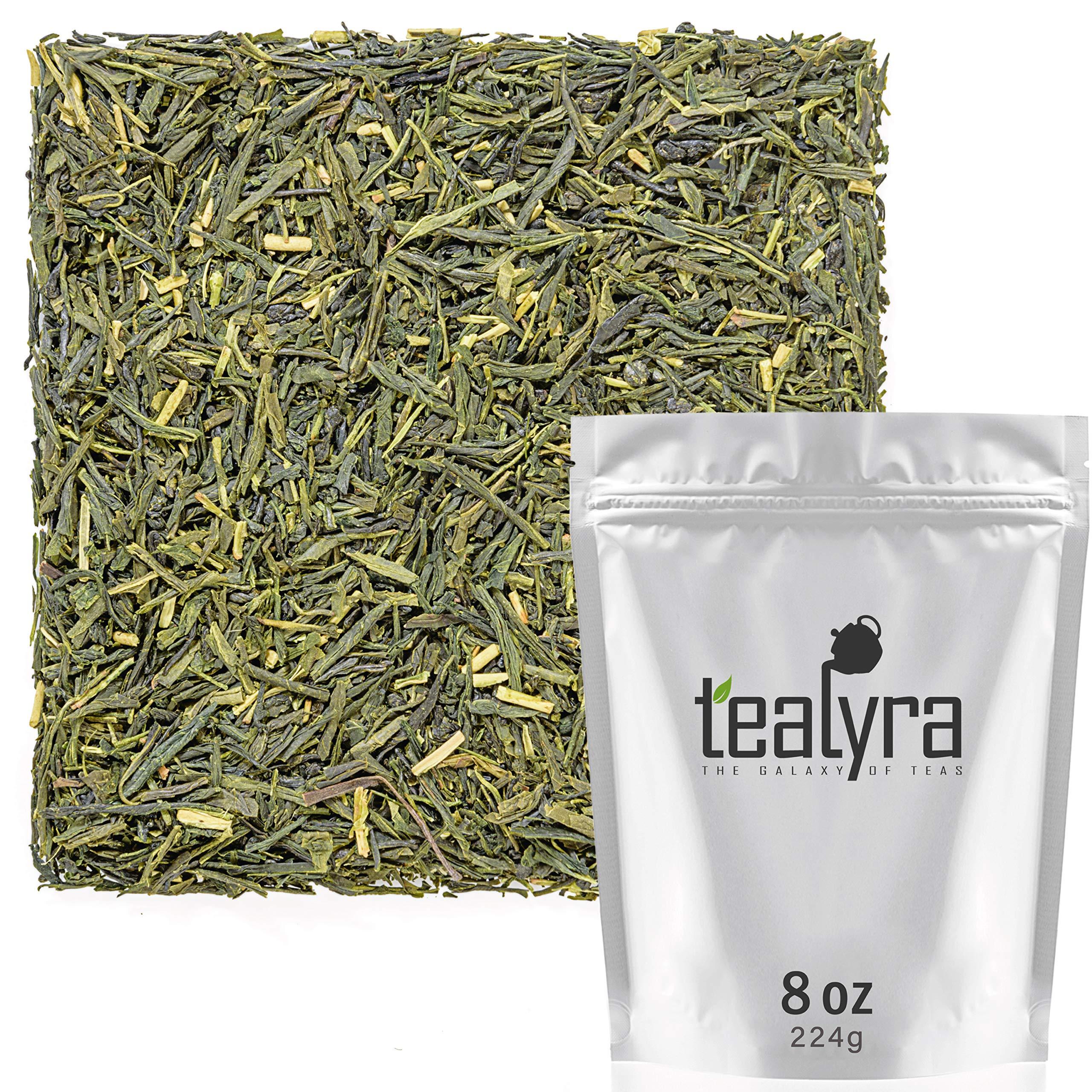 Tealyra - Sencha Satsuma - Japanese Green Tea - Luxury Loose Tea - Rich Taste Pure Green Tea - Antioxidants Rich - Low Caffeine - 224g (8-ounce) by Tealyra