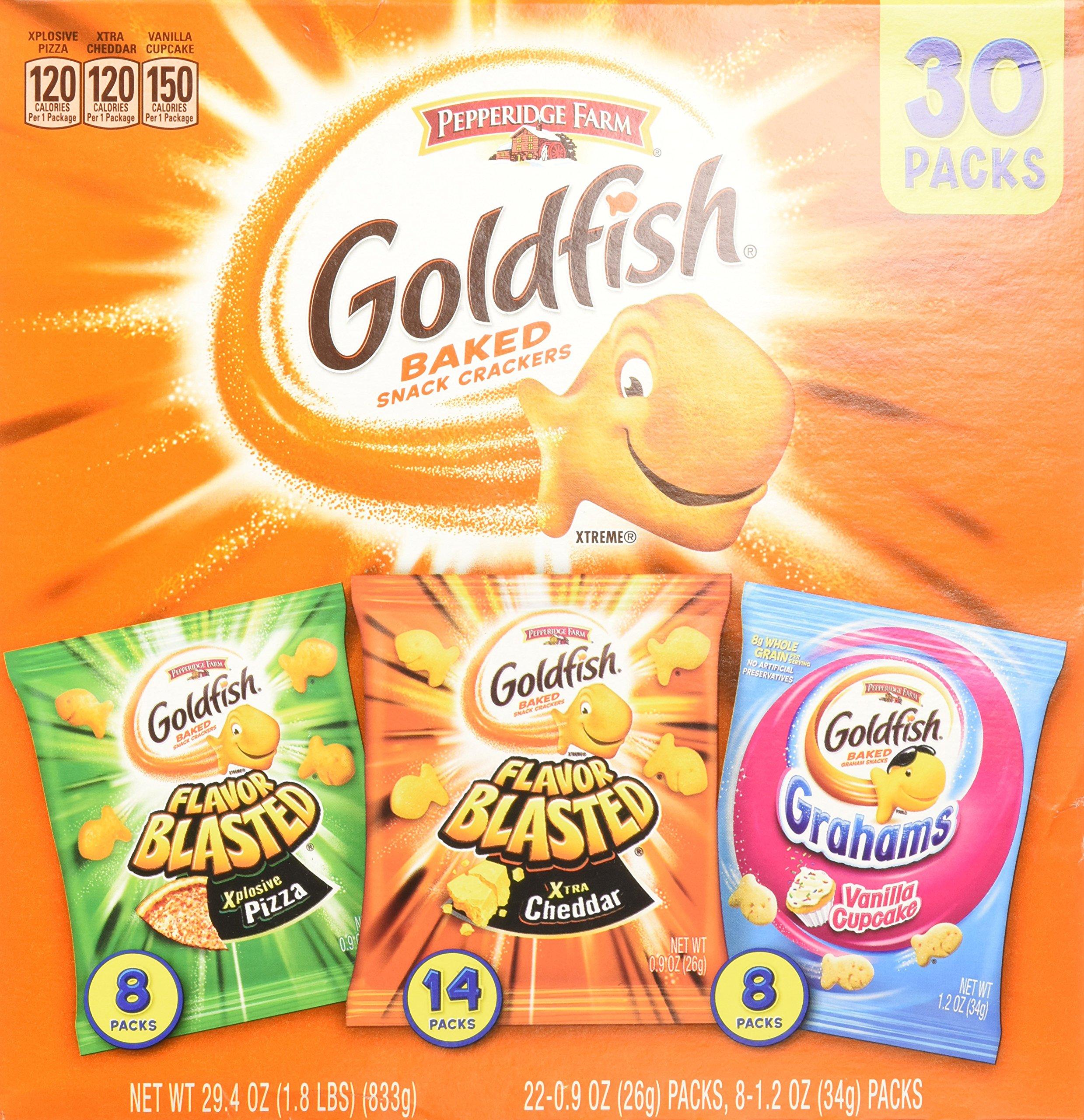 Pepperidge Farm Goldfish Variety Pack Bold Mix 29.4 Ounce 10