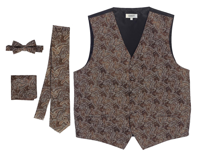 Gioberti Men's 4 Piece Formal Paisley Vest Set China VSM-96P