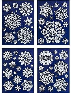 Winterliche Weihnachtsbilder.Amazon De 4er Set Große Runde Weihnachtsbilder Weihnachtliche