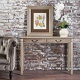 Cerise Classic Metallic Grey Finish Acacia Wood Console Table