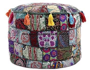 Amazon.com: Indio de Vintage Patchwork puf Otomano indio ...