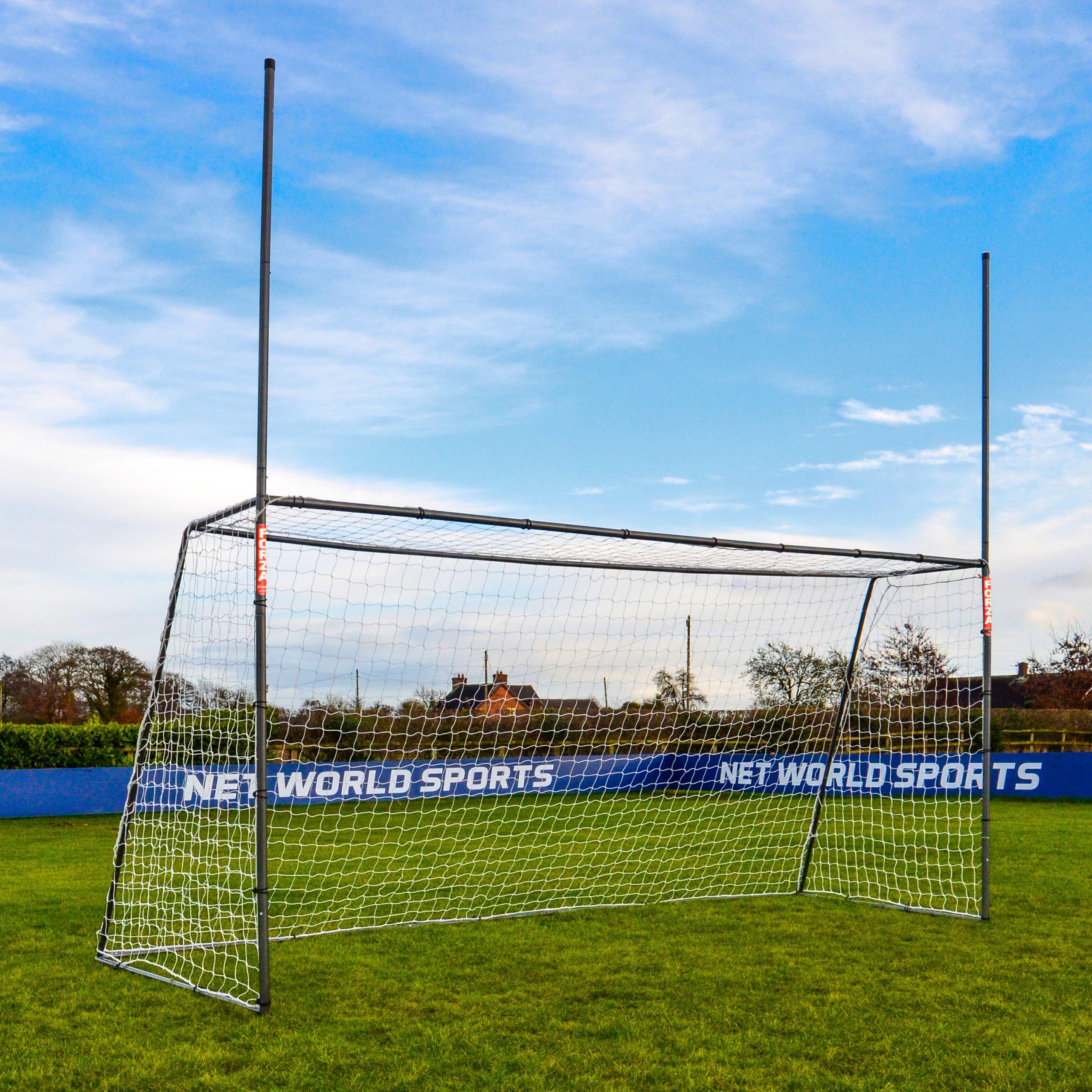 15 x 7 FORZA Steel42 Gaelic & Hurling Goal Posts - The Premium Backyard Goal [Net World Sports] by Net World Sports