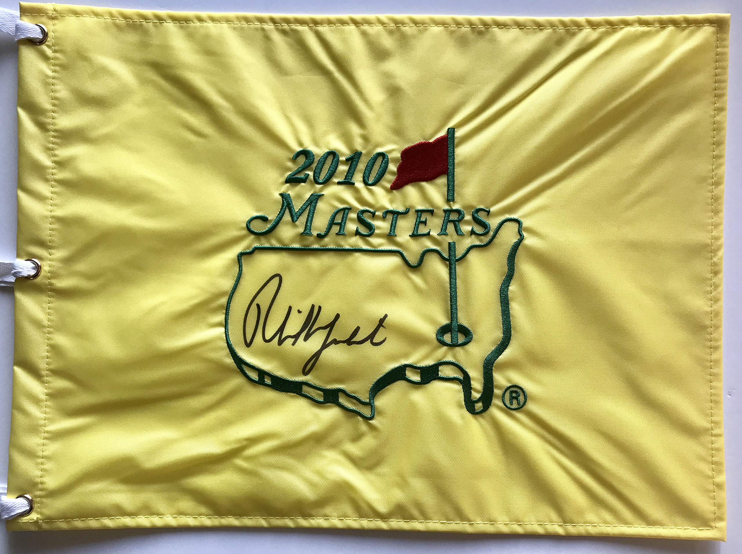 Phil Mickelson signed 2010 Masters flag 2018 ryder cup golf team usa pga