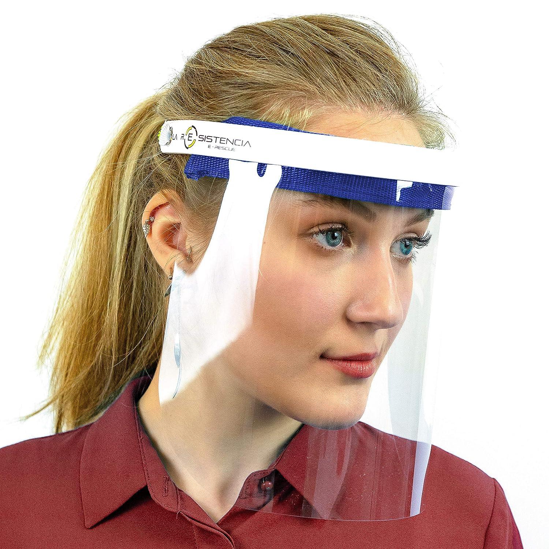 Pantalla Protector Facial C/ómodo Fabricado en Espa/ña Acolchado Anti Salpicaduras 1 unidad, Rojo Intenso Visera para la Seguridad de la Cara Lavable Color Elegible
