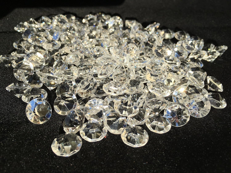 400unidades 11mm reluciente Deko diamantes brillantes brillantes de piedras de acrílico transparente transparente cristal Manualidades gltzer piedras joyas piedras brillantes cristales decorativos para decorar de Crystal King